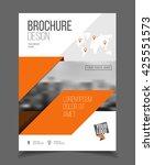 annual report. leaflet brochure ... | Shutterstock .eps vector #425551573