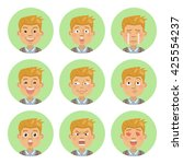 set of businessman emoticons.... | Shutterstock .eps vector #425554237