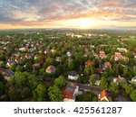 aerial view of suburban houses... | Shutterstock . vector #425561287