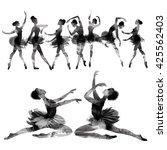 ballet. watercolor.   Shutterstock . vector #425562403