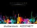 grunge style vector art ... | Shutterstock .eps vector #425574877