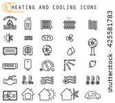 heating and cooling icons | Shutterstock .eps vector #425581783