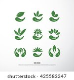 eco green icon set | Shutterstock .eps vector #425583247