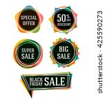 sale banners set. vector... | Shutterstock .eps vector #425590273