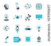 artificial intelligence flat... | Shutterstock .eps vector #425590657