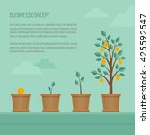 growing money tree. business... | Shutterstock .eps vector #425592547
