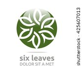 vector leaf eight with natural... | Shutterstock .eps vector #425607013