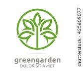 green garden natural ecology... | Shutterstock .eps vector #425609077