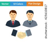 hand shake icon. vector...