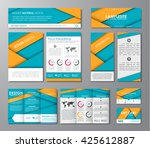 set of corporate identity of... | Shutterstock .eps vector #425612887