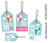 a set of retail price tags with ...