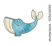 freehand textured cartoon whale | Shutterstock .eps vector #425616043