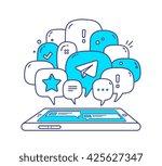 vector illustration of blue... | Shutterstock .eps vector #425627347