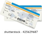 pattern of a boarding pass or... | Shutterstock .eps vector #425629687