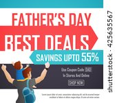 father's day sale  best deals... | Shutterstock .eps vector #425635567