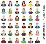 vector characters   icon set.... | Shutterstock .eps vector #425645203