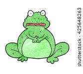 freehand textured cartoon frog | Shutterstock .eps vector #425648263
