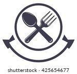 vector food service sign. fork...   Shutterstock .eps vector #425654677