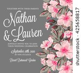 wedding invitation card with... | Shutterstock .eps vector #425658817
