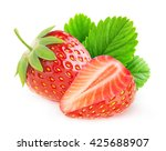 isolated strawberries. cut... | Shutterstock . vector #425688907