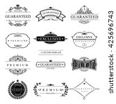 set of  vector templates for... | Shutterstock .eps vector #425696743