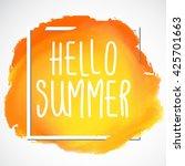 summer  holiday  vacation... | Shutterstock .eps vector #425701663