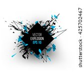 abstract explosion cloud of... | Shutterstock .eps vector #425702467