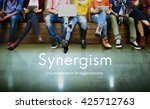 synergism team people graphic... | Shutterstock . vector #425712763