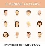 business avatars set. | Shutterstock .eps vector #425718793