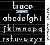 a z lowercase trace alphabet...