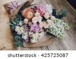 beautiful flower bouquet on the ... | Shutterstock . vector #425725087
