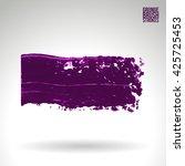 brush stroke and texture.... | Shutterstock .eps vector #425725453