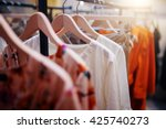 Clothing On Hanger At The...