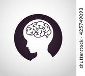 children brain logo vector | Shutterstock .eps vector #425749093