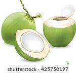 coconut water drink  green... | Shutterstock .eps vector #425750197