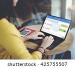 chatting online messaging forum ... | Shutterstock . vector #425755507