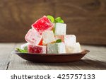 Turkish Delight On A Wooden...