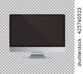 realistic computer monitor... | Shutterstock .eps vector #425760523