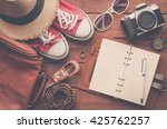 tourism planning and equipment... | Shutterstock . vector #425762257