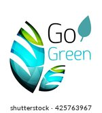 go green nature concept. vector ...   Shutterstock .eps vector #425763967