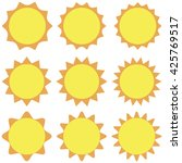 sun icon vector  isolated ...