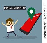 business man find smart phone... | Shutterstock .eps vector #425775817