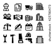 construction business icon | Shutterstock .eps vector #425780473