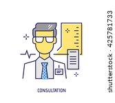 medical consultation. diabetes... | Shutterstock .eps vector #425781733