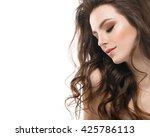 young beautiful woman face... | Shutterstock . vector #425786113