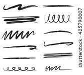 black marker strokes  hand... | Shutterstock .eps vector #425790007