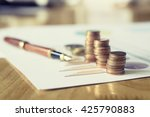 saving stack coins money... | Shutterstock . vector #425790883