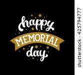 happy memorial day  text with... | Shutterstock . vector #425794777