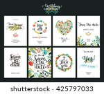 save the date cards  wedding... | Shutterstock . vector #425797033