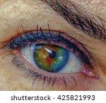 Eye Close Up. Iris...